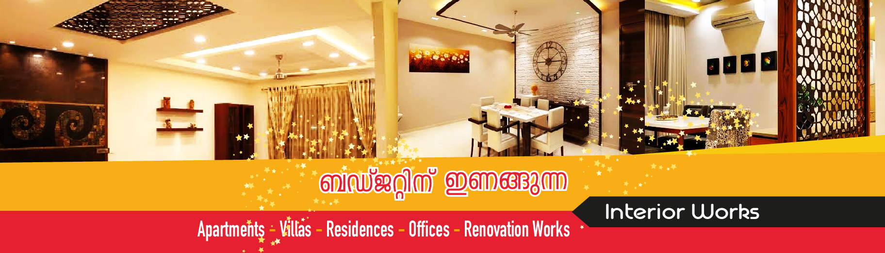 flat interior renovation works, house constructions in trivandrum , showroom works in  trivandrum, interior designer in poojappura,  interior works in  karamana,  interior works in vazhuthacaudu,  interior works in vellayambalam